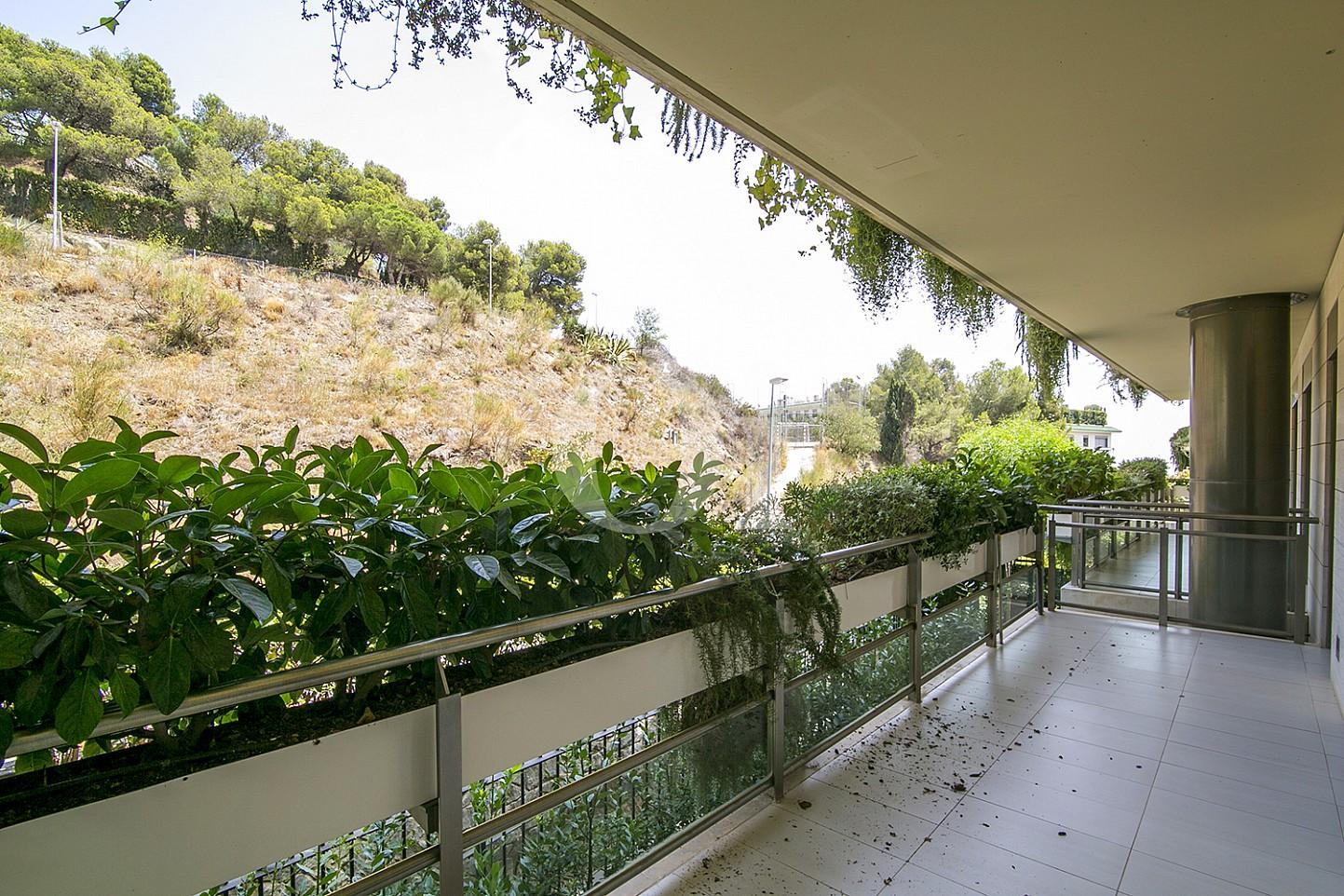 Terraza de precioso apartamento en venta en Saria, Barcelona