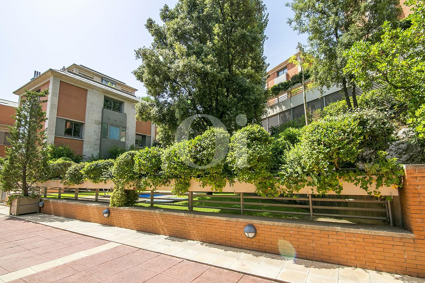 vista de residencial de lujo en barcelona