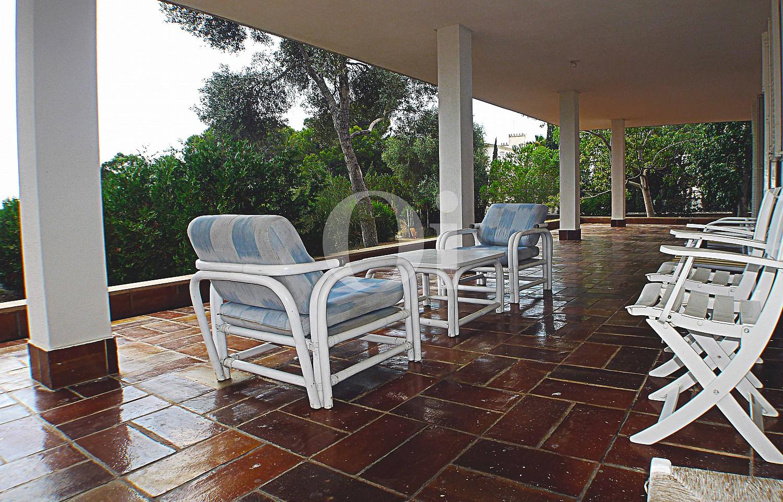 Comedor de verano de casa en venta con potencial en Manacor, Mallorca