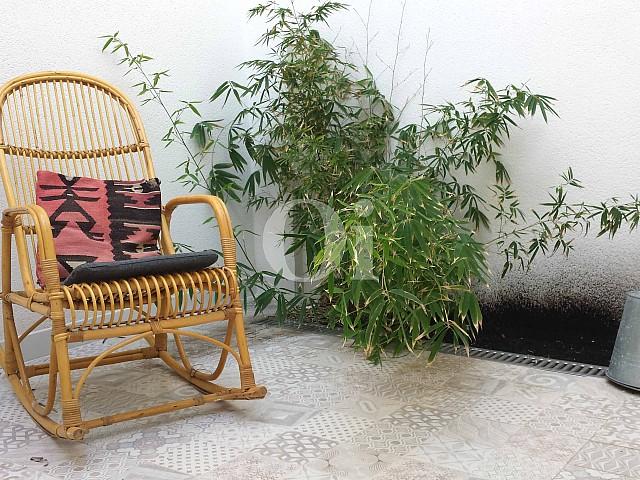 Patio de encantador apartamento en venta en S'Illot, Mallorca