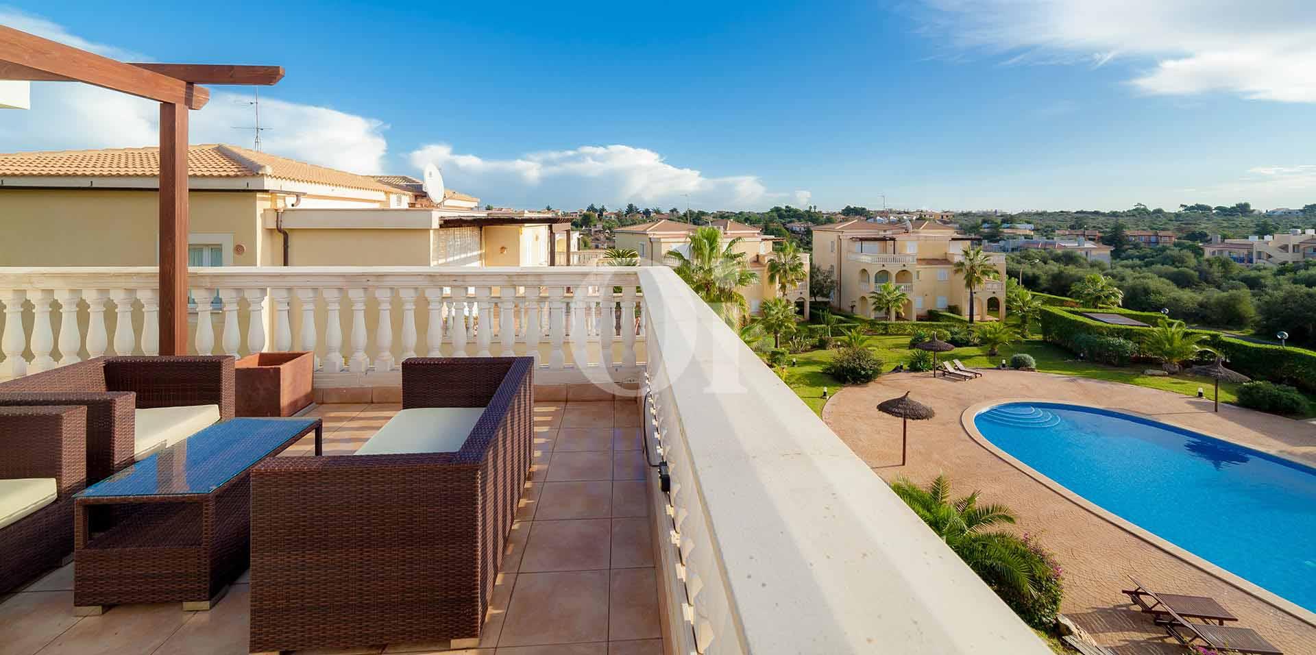 Terraza de apartamento nuevo en venta en Porto Cristo, Mallorca