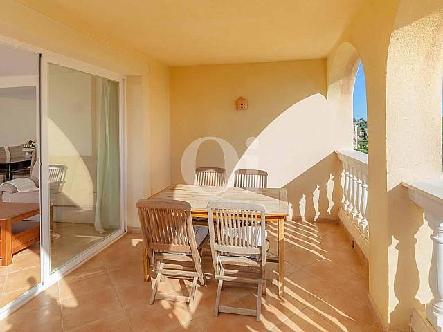 Terraza soleada de apartamento en venta en Porto Cristo, Mallorca