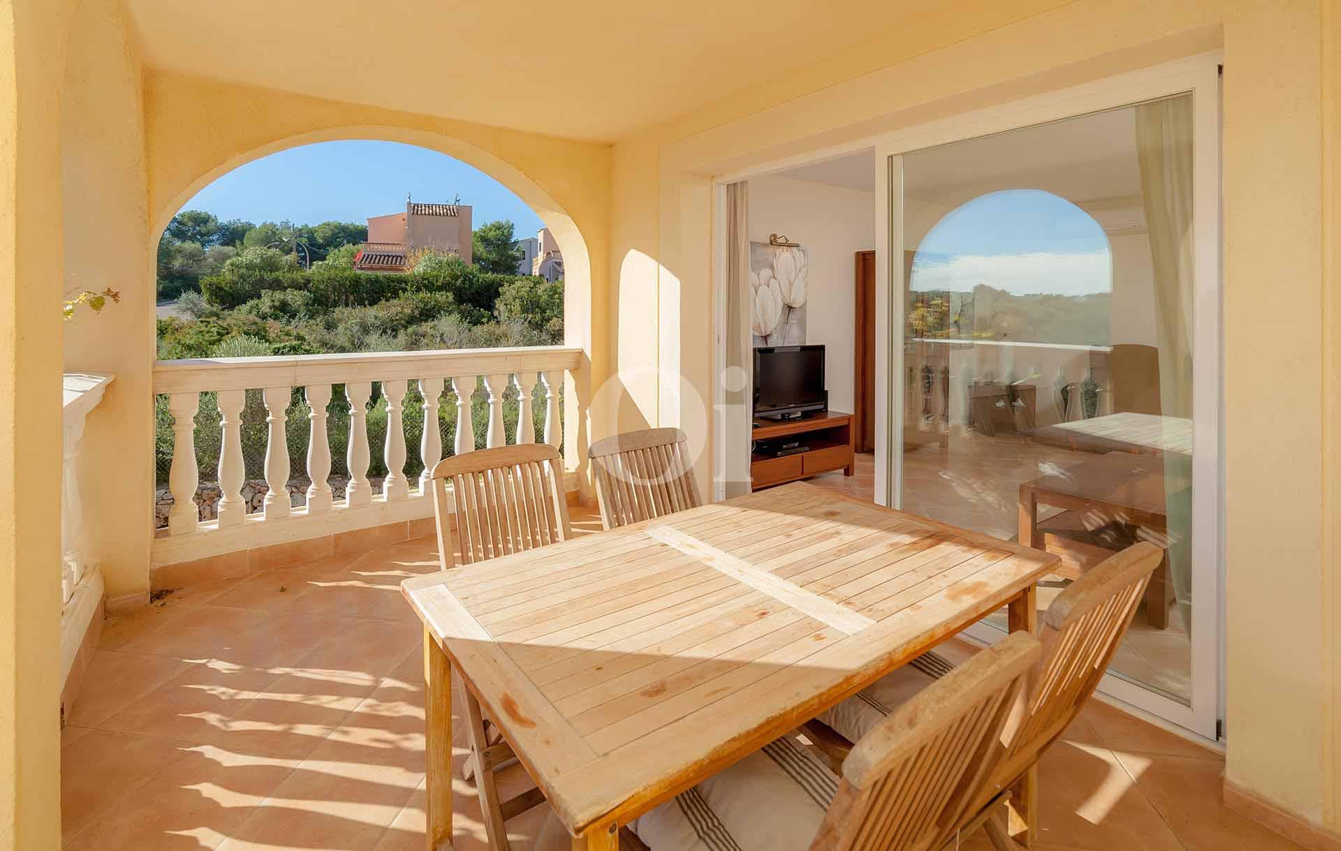 Comedor de verano de apartamento en venta en Porto Cristo, Mallorca
