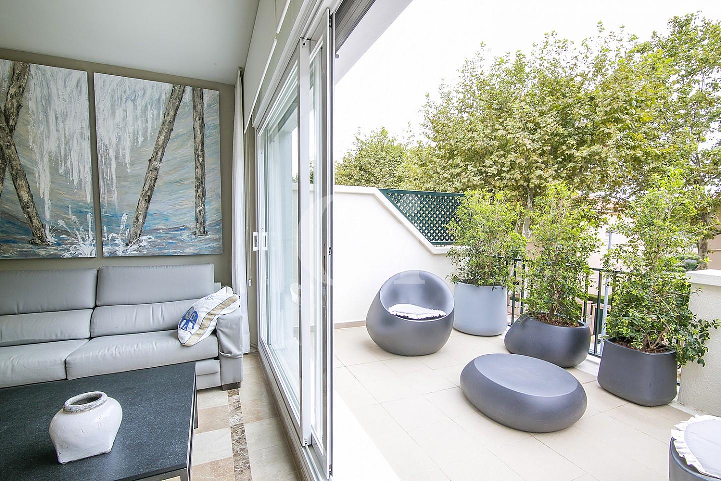 Terraza de lujoso ático dúplex en venta en S'Agaró, Costa Brava