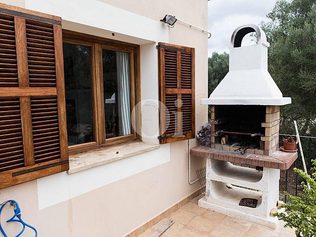 Zona de barbacoa de preciosa casa de campo en venta en Manacor, Mallorca