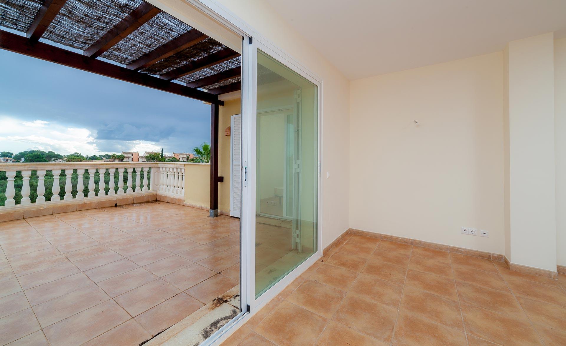 Terraza de fantastico atico en venta en Mallorca, Porto Cristo