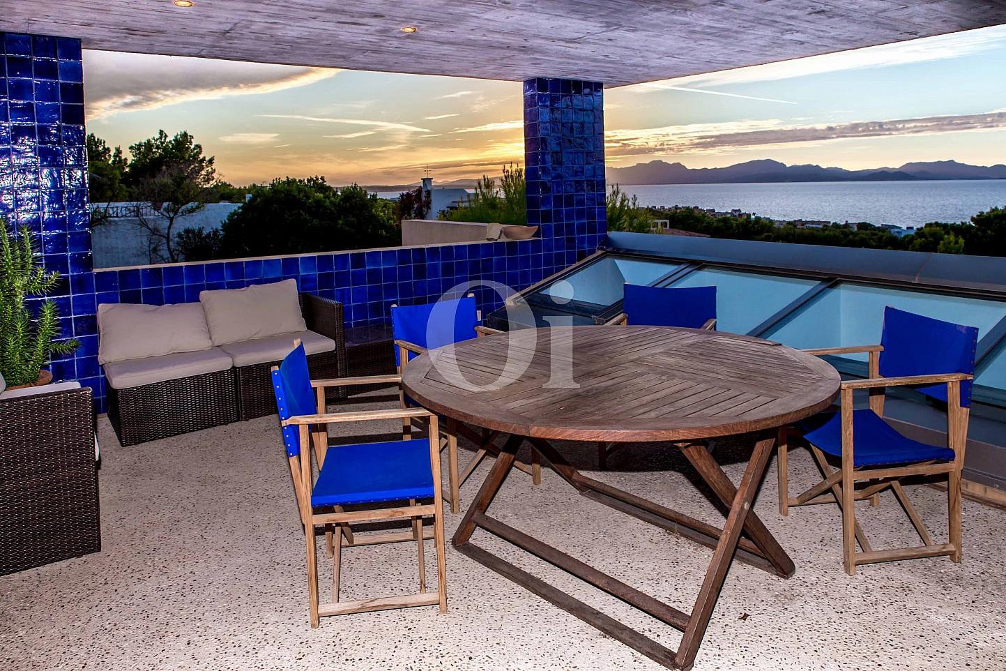 Vistas de moderna villa en venta en Artá, Mallorca