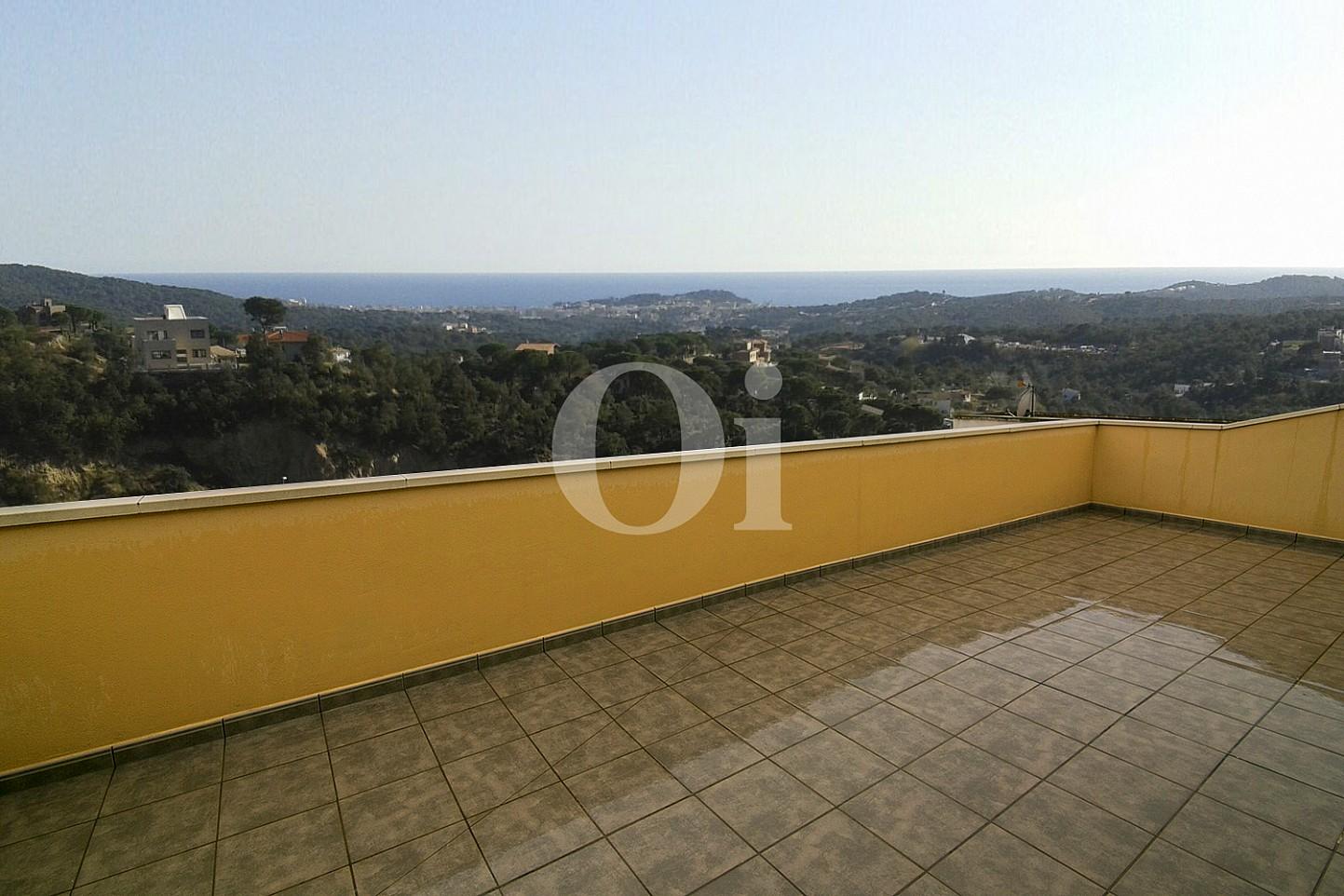 Terrasse eines Hauses mit Anblicken zum Verkauf in Lloret de Mar, Costa Brava