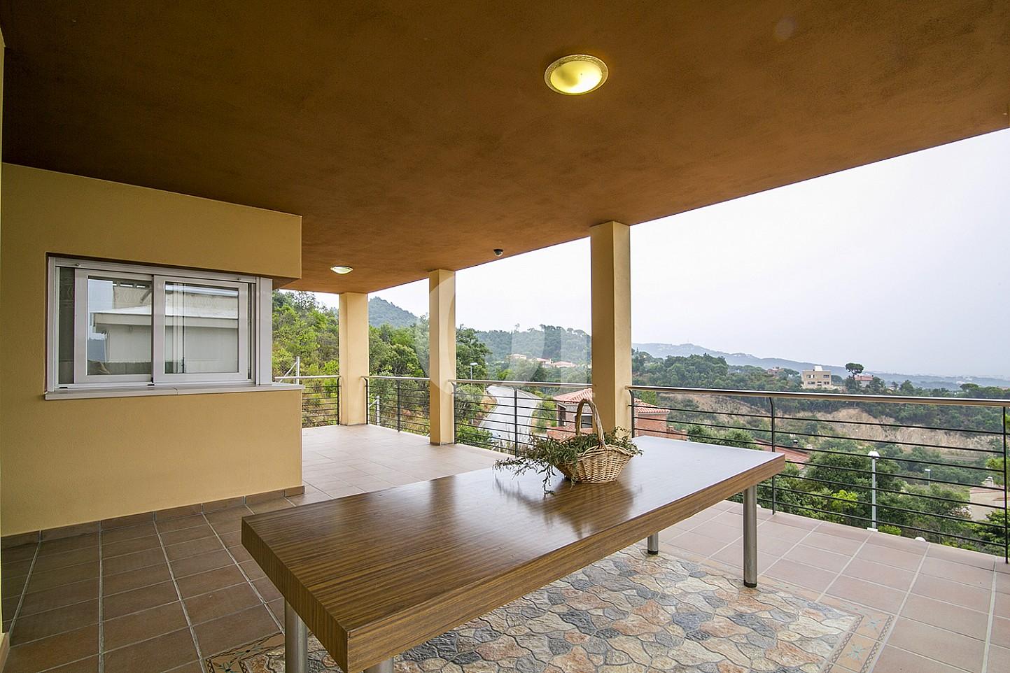Terrassa d'una casa amb vistes en venda a Lloret de Mar, Costa Brava