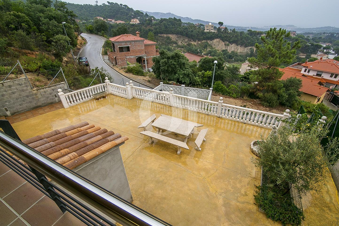 Terraza de casa en venta con vistas al mar en Lloret de Mar, Costa Brava