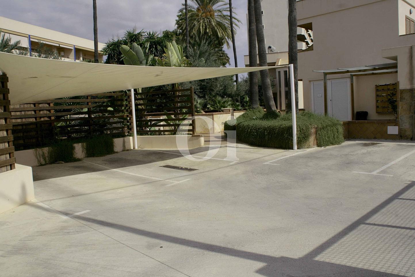 Terrasse eines wunderbaren Reihenhauses zum Verkauf in Ibiza