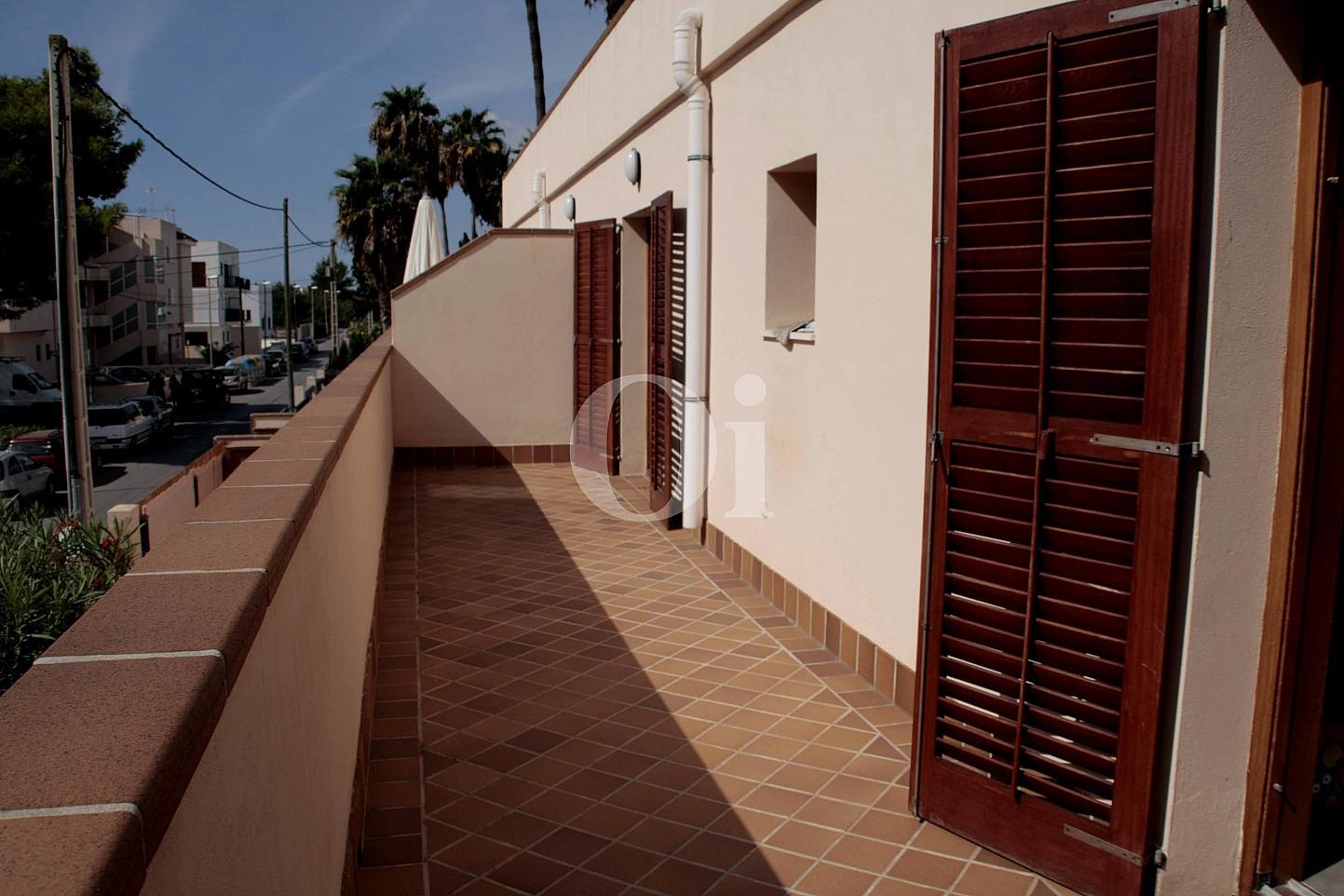 Terrassa  d'una fantàstica casa adossada en venda a Eivissa