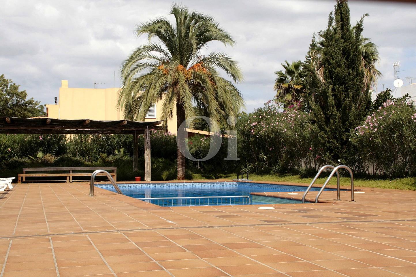 Piscina d'una casa adossada en venda a Eivissa