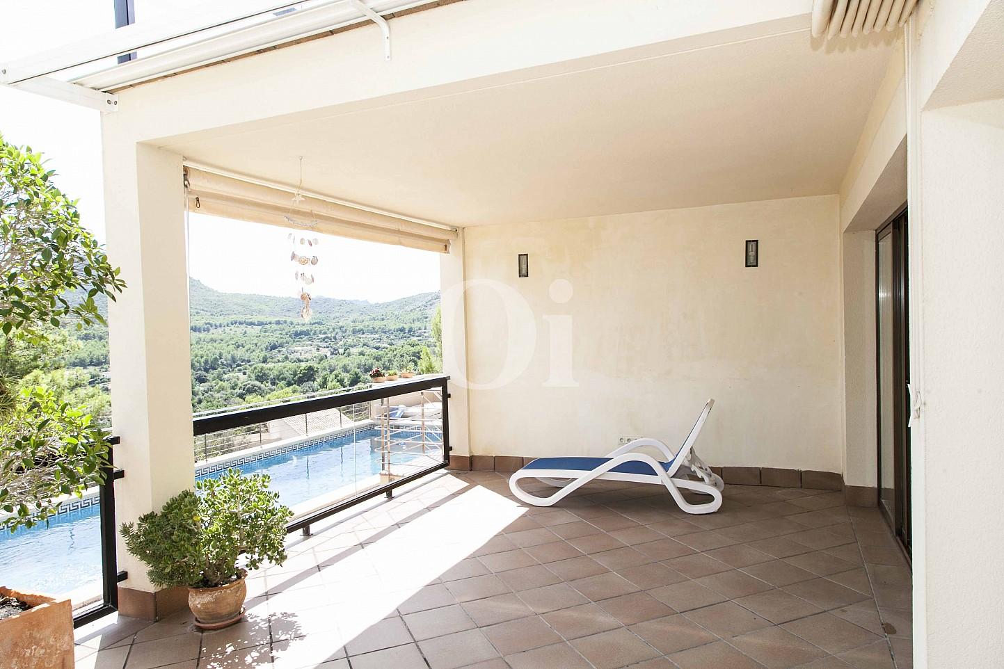 Piscina d'una casa en venda en un exclusiu complex residencial de Mallorca
