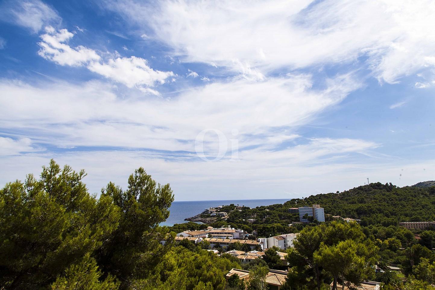 Anblicke auf das Meer eines Hauses zum Verkauf im exklusiven Wohngebiet Mallorcas
