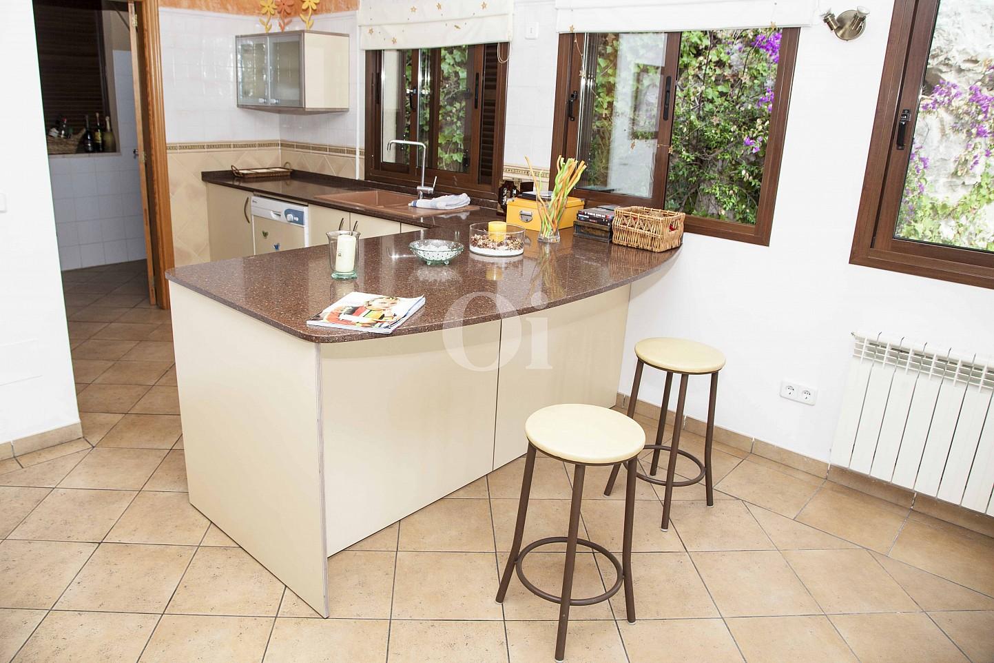 Cuina  d'una casa en venda en un exclusiu complex residencial de Mallorca