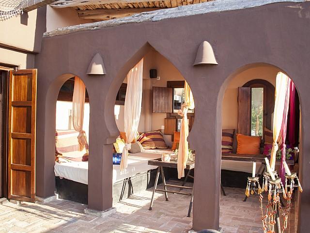 Vistas de villa única de lujo en alquiler en Portixol, Ibiza
