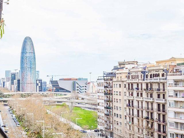 Vue dégagée depuis appartement luxueux en vente à Barcelone