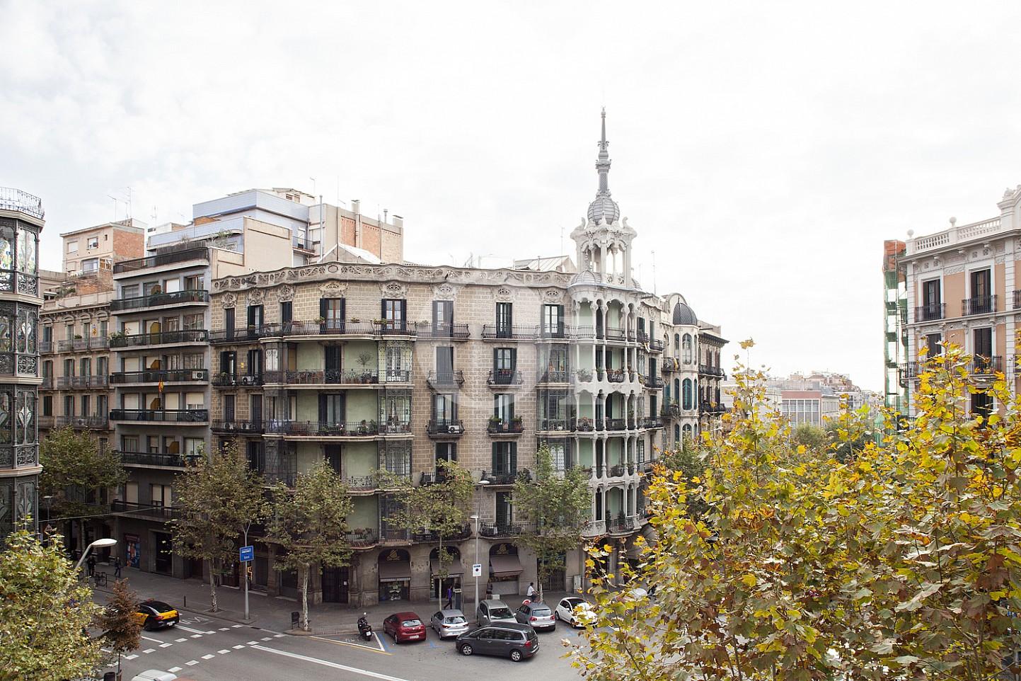 Вид из окон квартиры на продажу в Eixample Derecho