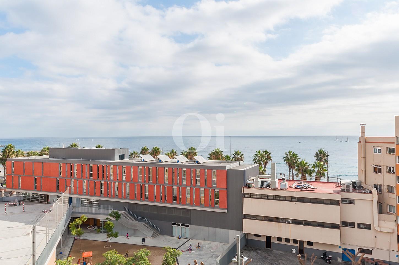 Вид с террасы квартиры на продажу на Барселонете