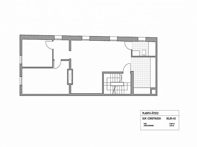План квартиры пентхауса в аренду в Готическом квартале