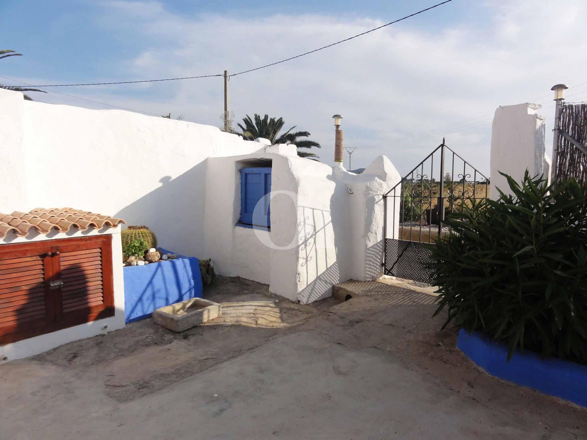Terrasse eines schönen Haus zur Miete in Ses Salines, Ibiza