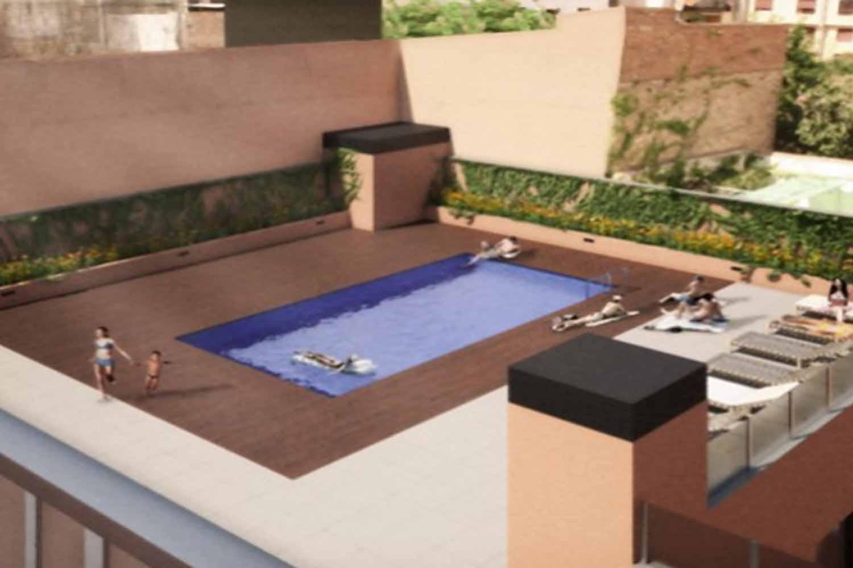 Gemeinschaftlicher Swimming-Pool eines Deisg-Duplex zum Verkauf in Gràcia, Barcelona