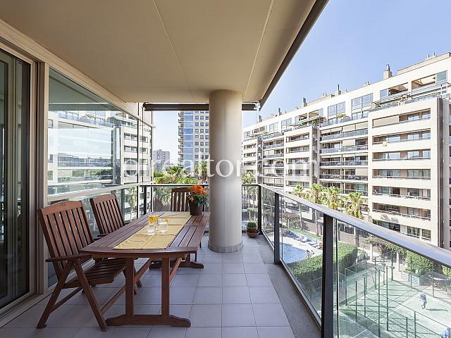 Balcón de precioso Piso en alquiler Diagonal Mar, Barcelona
