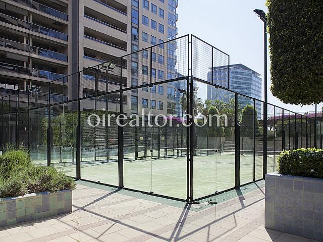 Cancha de Tennis de precioso Piso en alquiler Diagonal Mar, Barcelona