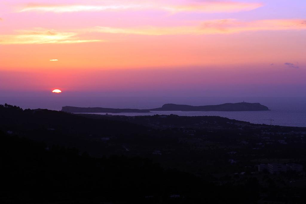 Aussicht auf den Sonnenuntergang