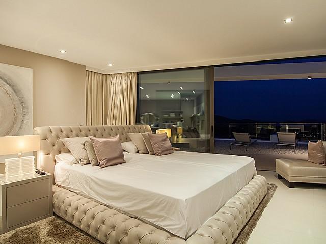 Dormitori 2 d'una impressionant vila de luxe en lloguer a Es Cubells, Eivissa