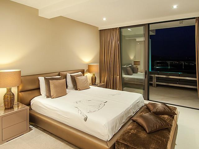 Dormitori 3 d'una impressionant vila de luxe en lloguer a Es Cubells, Eivissa