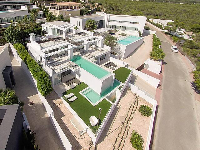 vista aérea d villa d lujo en Ibiza
