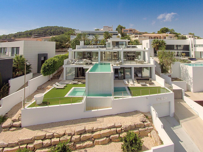 Die Villa aus der Luft