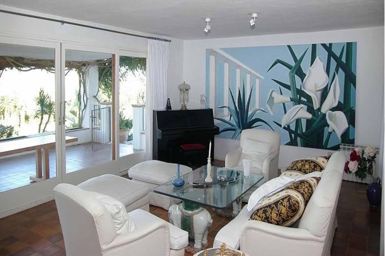 Sala de estar de impresionante finca en venta en San Agustín, Ibiza