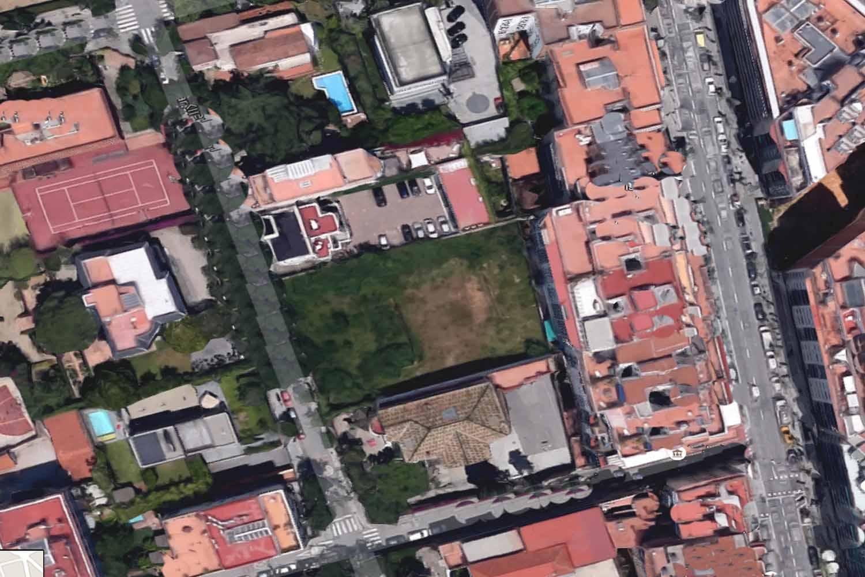 Das Grundstück aus der Luft
