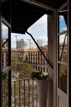 Vistas de precioso apartamento en alquiler en Barcelona
