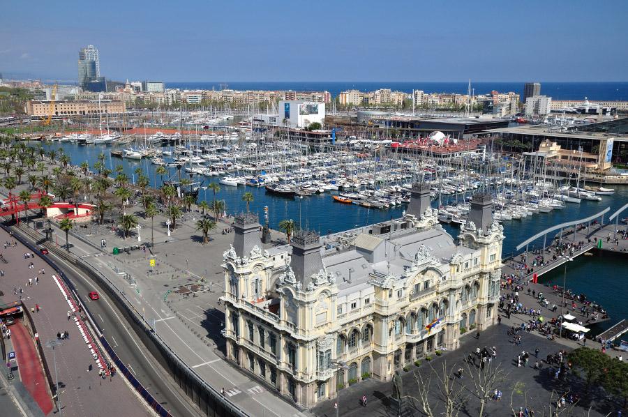 Yachthafen im Zentrum Barcelonas