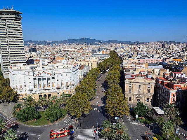 Vistes a Les Rambles de Barcelona