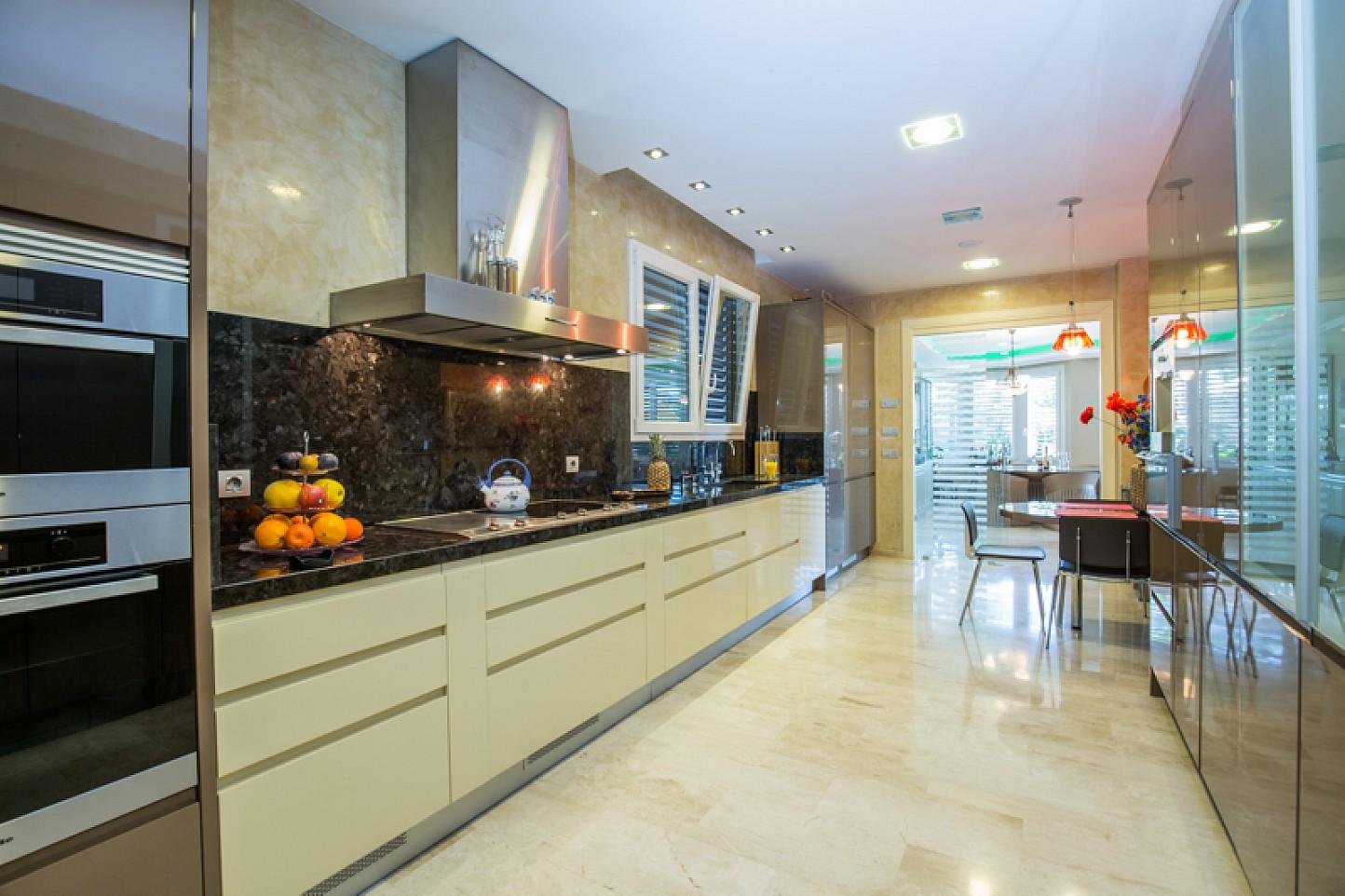 Kitchen in  stylish villa for sale in Lloret de Mar, Costa Brava