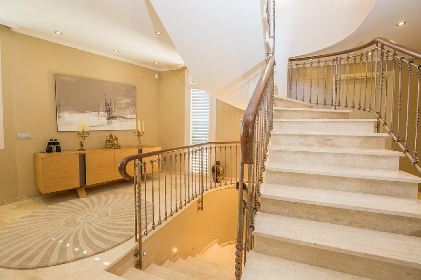 Stairs in  stylish villa for sale in Lloret de Mar, Costa Brava