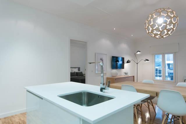 Küche und Wohn-Esszimmer