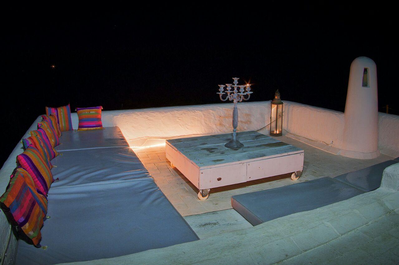 Iluminación de la gran terraza situada en la planta superior