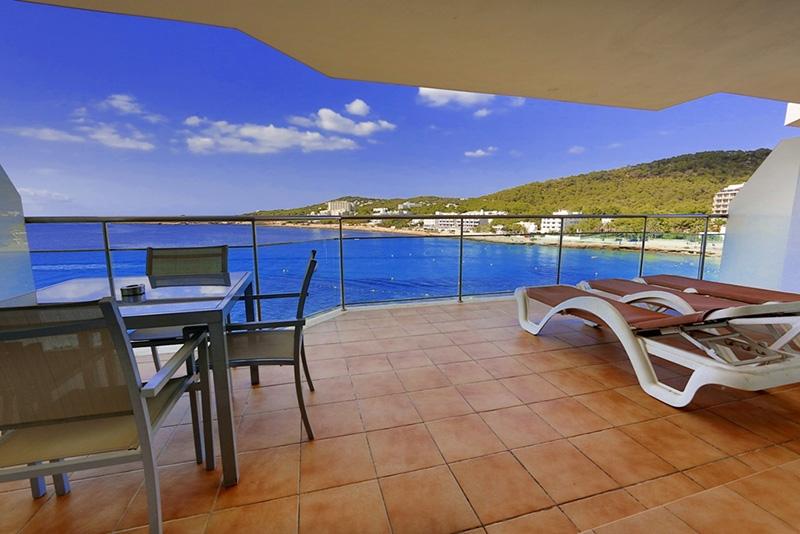 Vistas al mar desde una de las terrazas