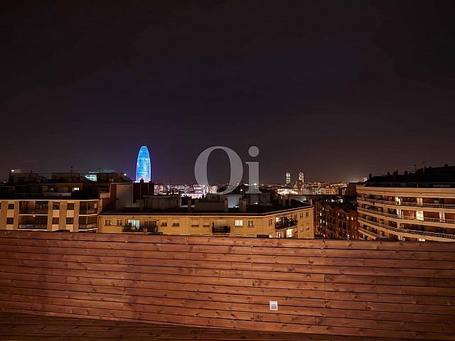 Vistas a la ciudad desde la gran terraza