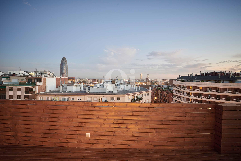 Vistas a Barcelona desde la terraza