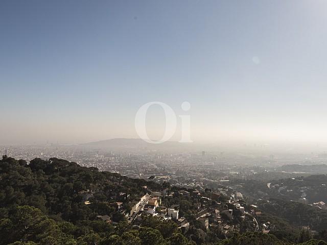 Magníficas vistas a la ciudad de Barcelona desde la casa