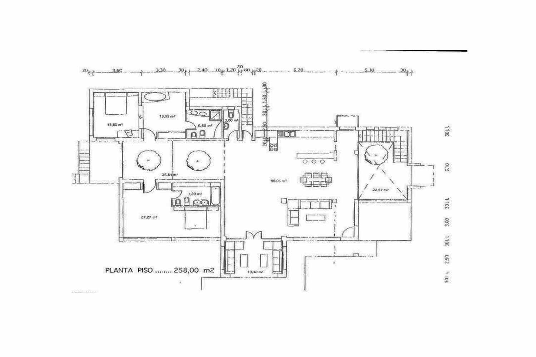 План-схема дома на продажу в бухте Таламанка