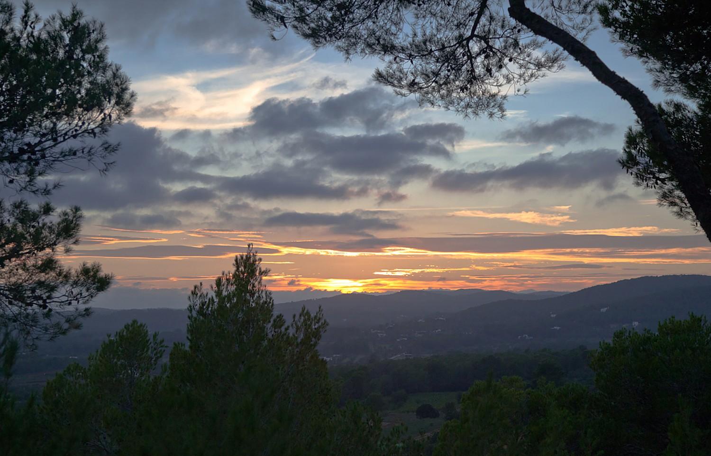 Vistas a la puesta de sol
