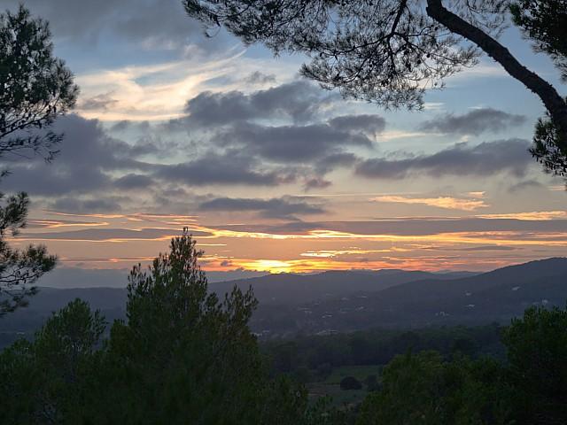 Vistes a la posta de sol